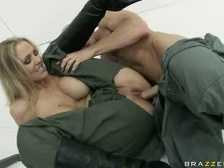 Large boobed julia ann is eagerly slamming her clamburger hard on a stiff pénis