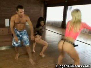 Aerobics at lingeries