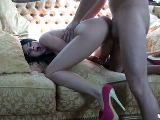 hottest brunette more, all sucking cock full, real mofos