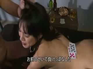 Guy has her ten card in hot oriental chick game for sex