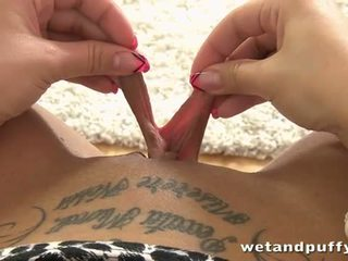 Wet and Puffy: Clair toys herself with different sexy toys.