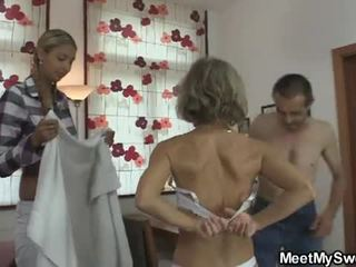 jung, hahnrei, schlampe, 3some