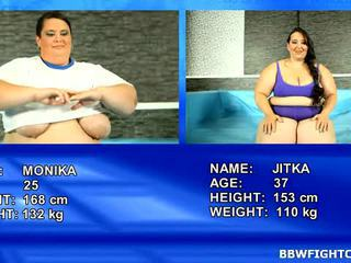 Uncovered Oil Wrestling Match Between SBBWs Monika And Jitka