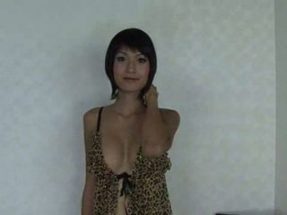 Sweet asian tranny with a small dick