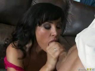 Sexually Excited Sexy Milf Lisa Ann Munches A Mbuttive Cock Like A Yummy Baloney