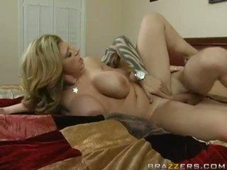Brunette Mom Sara Jay Pumping Her Slit On A Hard Meat Ramweenie