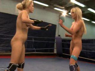 Laura krystall og michelle soaked fighting stripped