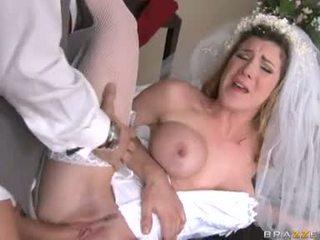 най-много brides, хубав чорапи реален