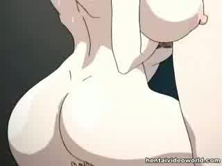 Loads của hentai kiêmshot đổ vào ngoài của cô ấy cả hai holes