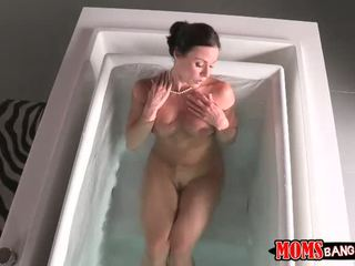 Busty milf Kendra Lust 3way with stepson