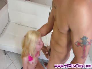 Small tit skinny blonde babe fucking