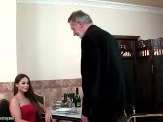 Cathy heaven enjoys bayan with old man