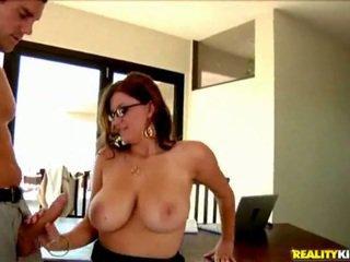glasses, big tits, office, office sex
