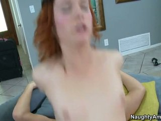 Redhead college girl gets fucked