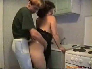 gospodinje, zrel, kuhinja