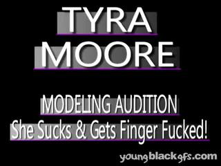 Adorable Youthful Darksome Honey Tyra Moore