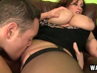 Incredibly великий груди на the сексуальна пантера шльондра eva notty