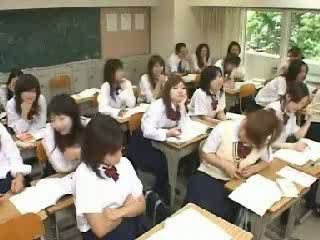 Japanese Classroom Jerking and Fucking in School T Video
