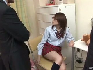 Giapponese giovanissima rino mizusawa arrapato colpo partner multipli