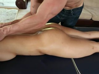 oil, natural tits, massage, asian sexy horny girl