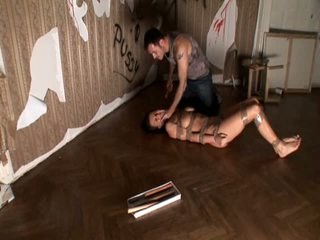 Tied roxy taggart gets toyed