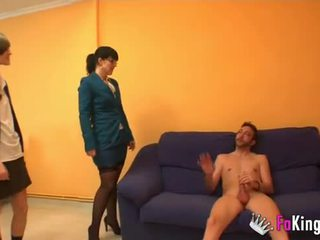 Teacher Montse teaches Ainara to be a good whore.