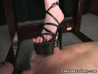 licking wild pussy, high heels, female domination