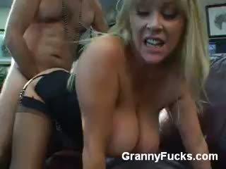 Older Babe Kandi Cox Slurps A Cock