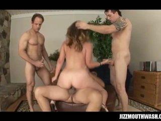 Nice and cute girl prefers hard triple penetration