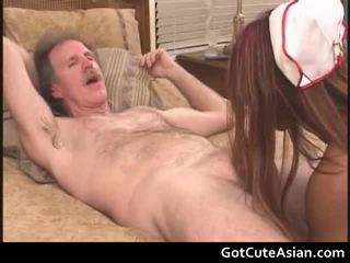 Asian Nurse Getting Her Constricted Muff