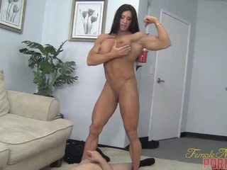 muscle, humiliation, female, face-sitting