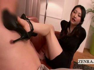 briunetė, japonijos, kūdikis, pėdų fetišas