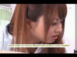 Akiho Yoshizawa from idol69 naughty asian nurse likes to do blowjob