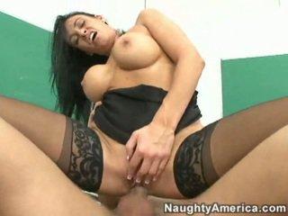 brunette, lick, big tits, office