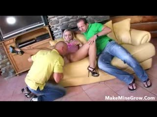 Big tits Mia Leone try a threesome-1