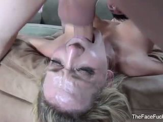 The Face Fuck Hour: Hard pov face fucking session with this blonde