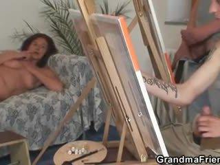 Two mlada painters vijak goli babi