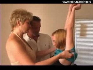 Ffm svingeris trio su suaugę mama ir paauglys video