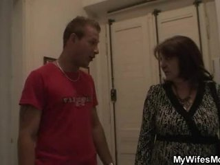 Busty granny gets laid by son-in-law