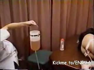 2500cc glycerin klizma punishment ar klizma plug