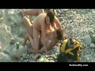 Thesandfly δημόσιο Καυτά & καυλωμένος/η παραλία amateurs!