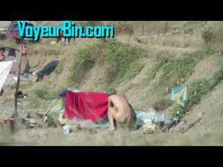 Hot Chick Naked Beach Camping