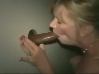 A Mommy Fucks Bare Black in the Gloryhole: Free Porn 68