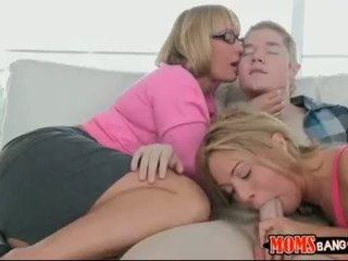 Big butt milf Melanie Monroe horny 3some