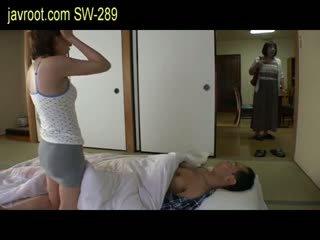 japonés, bebé, tetas pequeñas