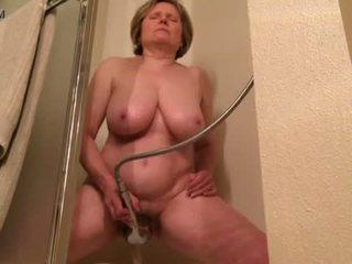 orgazmas, cumming, dušas, masturbacija