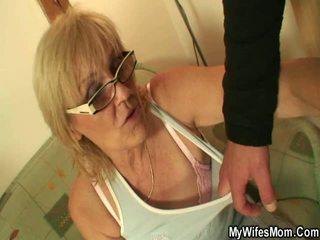 grandma, titty fuck, kitchen