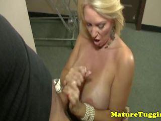 Bigtitted Housewife Jerking Cock, Free HD Porn de