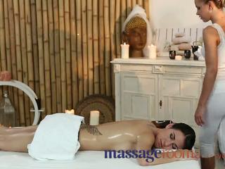 Massage Rooms Cute British Lesbian Has G-spot Orgasm With Czech Beauty Video