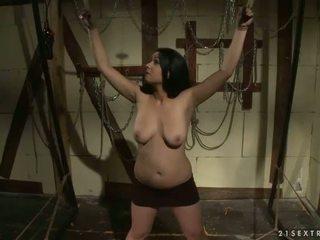 Mistress Katy Parker punishing busty slavegirl